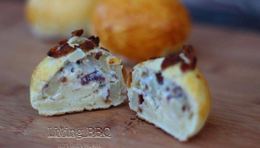 Bacon stuffed rolls