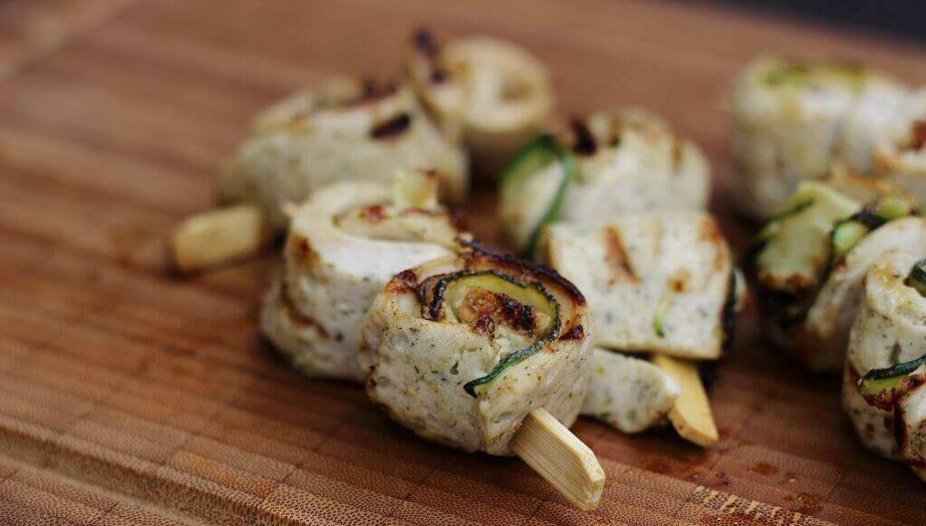 Weißwurst Zucchini Spieße