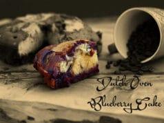 Blaubeerkuchen aus dem Dutch Oven