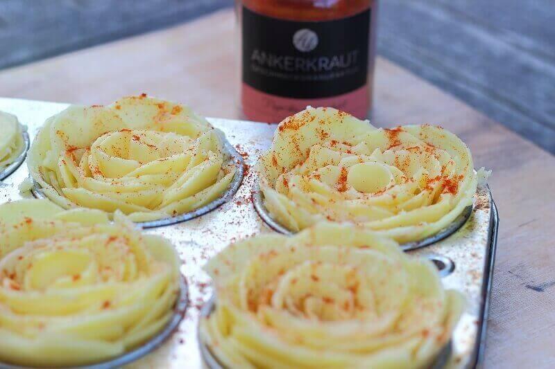 Kartoffelrosen kartoffelrosen_Living BBQ Kartoffelrosen mit ger  uchertem Paprikapulver von Ankerkraut
