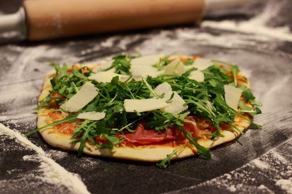 Pizza Ruccola pizzastein_Pizza Ruccola