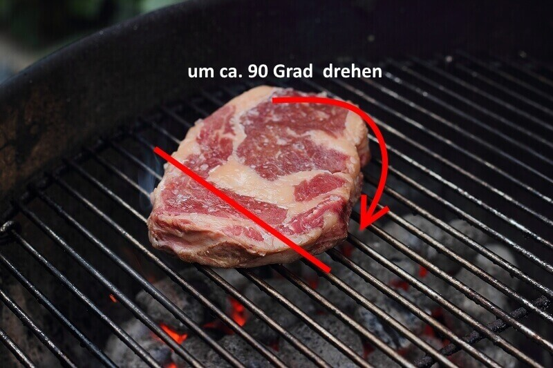 das perfekte Steak 45 Grad drehen steak_Living BBQ 90 Grad drehen 1