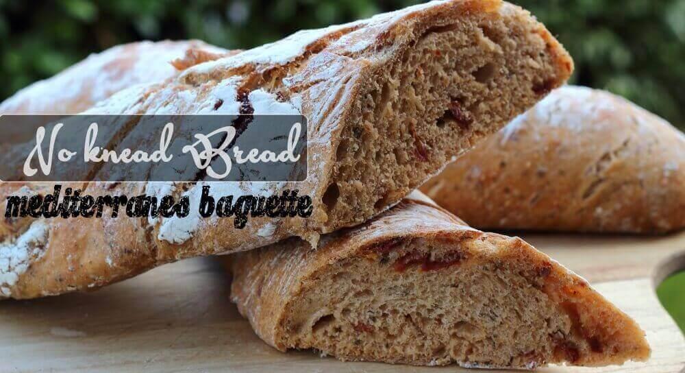 Mediterranes Baguett no knead