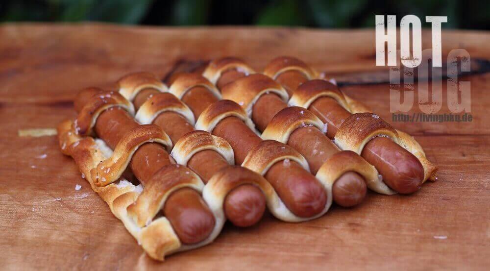 Hot Dog Teppich vom Grill