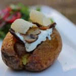 Champignon gefüllte Backkartoffel vom Grill ofenkartoffel_Living BBQ Grillbeilage Kartoffel Grillbeilage Kartoffel 150x150