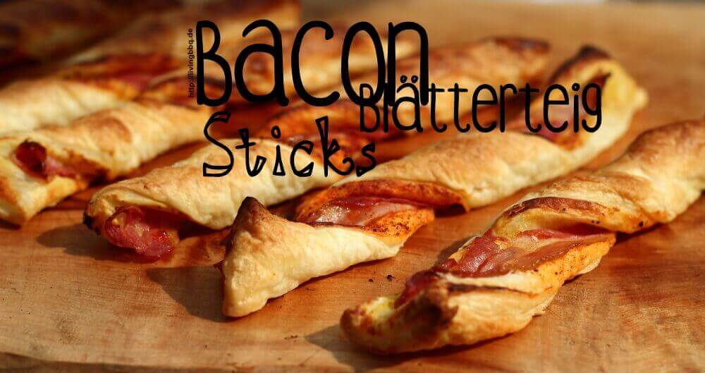 Bacon Blätterteig Sticks