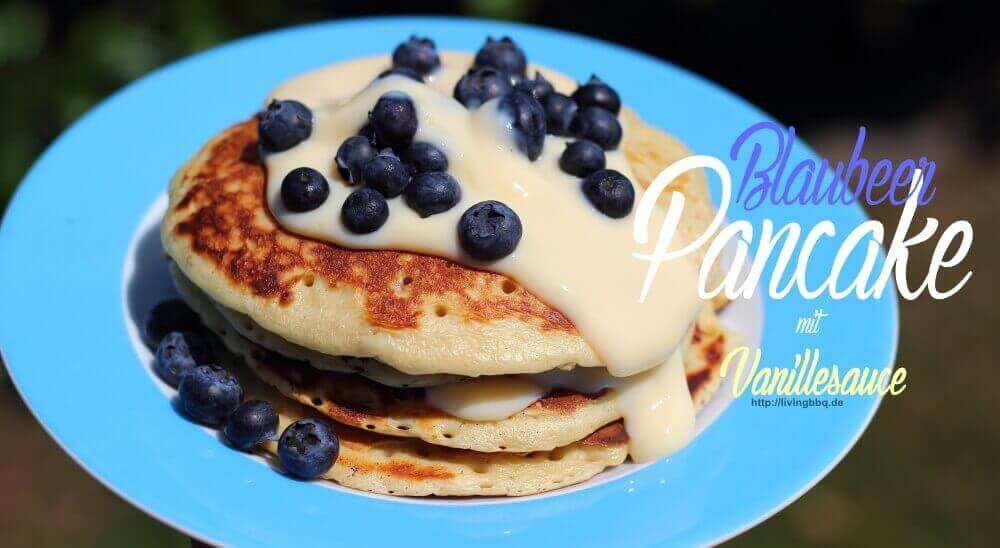 Blaubeer Pancakes von der Plancha