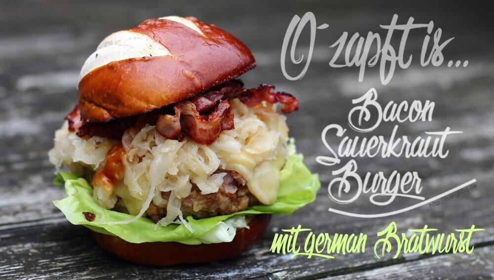 Bacon Sauerkraut Burger grillrezepte_Bacon Sauerkraut Burger II