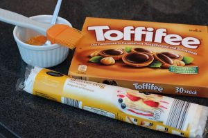 Blätterteig Toffifee Grillgebäck mit dem Weber Backset
