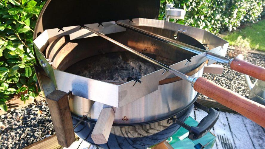 Craft Beer mariniertes Lamm vom Moesta BBQ Currasco Spieß craft beer mariniertes lamm_Setup Spie  set