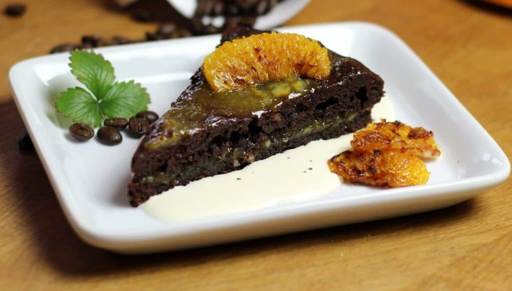 Orangen Craft Beer Schoko Brownie Kuchen