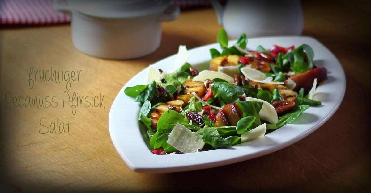 Pekannuss Pfirsich Salat