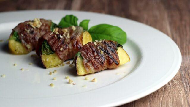 Bacon Pfirsich vom Grill