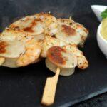 garnelen-würstchen spieße_Garnelen W  rstchen Spie  e mit Curry Mayonnaise angerichtet 2 1 150x150