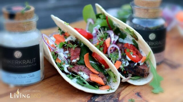 Flank Steak Tortilla Wrap