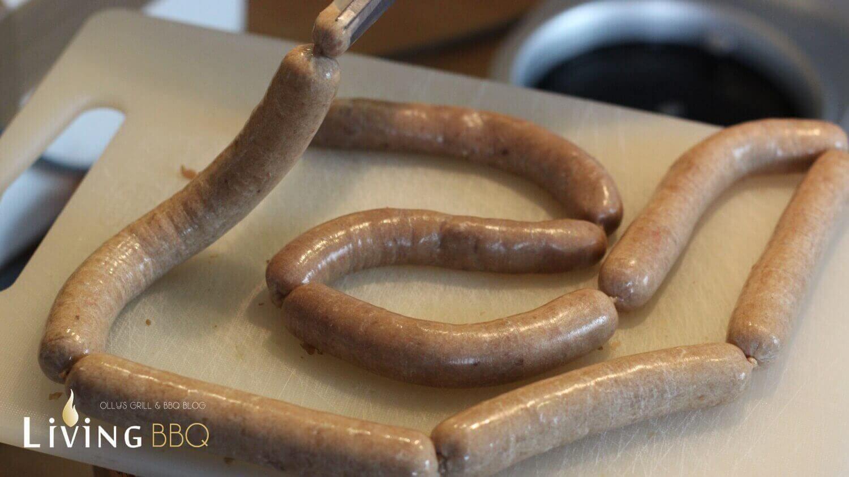 geschten hot dog stellung