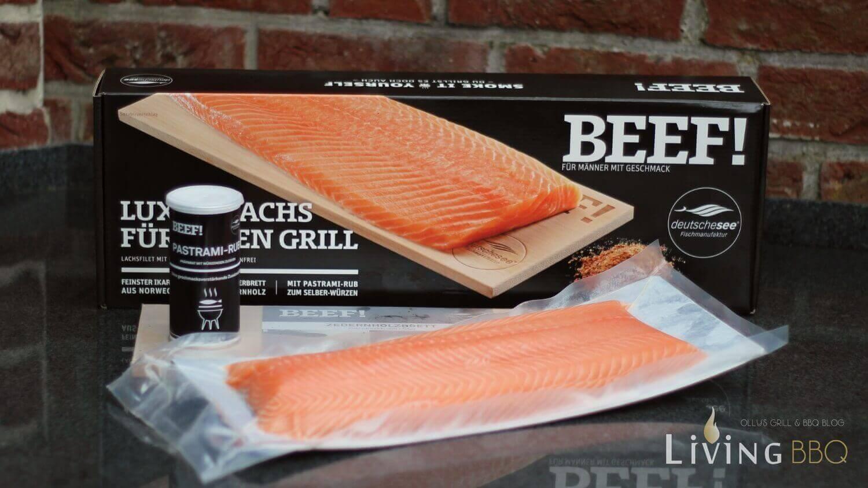 Luxus Lachs BEEF! Paket ikarimi lachs_Ikarimi Lachs Zedernholzplanke Pastrami Rub