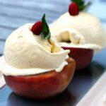 gegrillter Pfirsich mit Vanilleeis von der Plancha gegrillter Pfirsich_gegrillter Pfirsich mit Vanilleeis 150x150