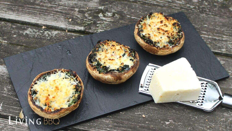 gratinierte gefüllte Champignons gefüllte champignons_gef  llte Champignons Spinat K  se 1