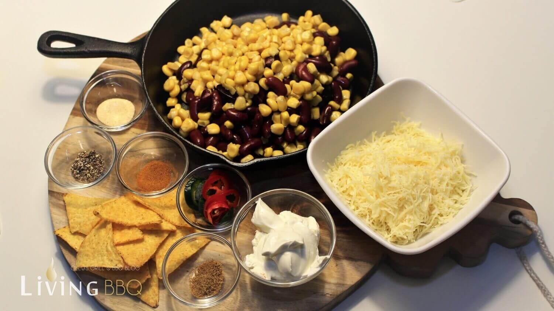Zutaten Käse Mais Dip