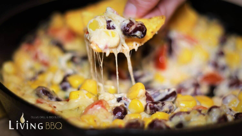 geschmolzener Käse käse mais dip_K  se Mais Dip Tortillas 2