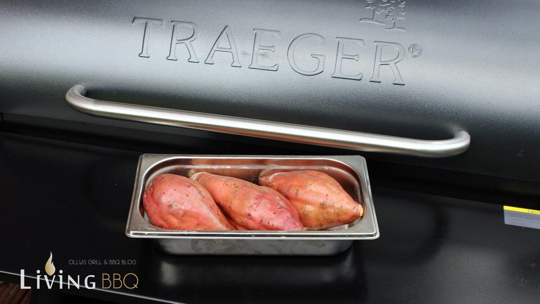 Süßkartoffel garen süßkartoffeln_S    kartoffeln grillen Pelletsmoker Traeger