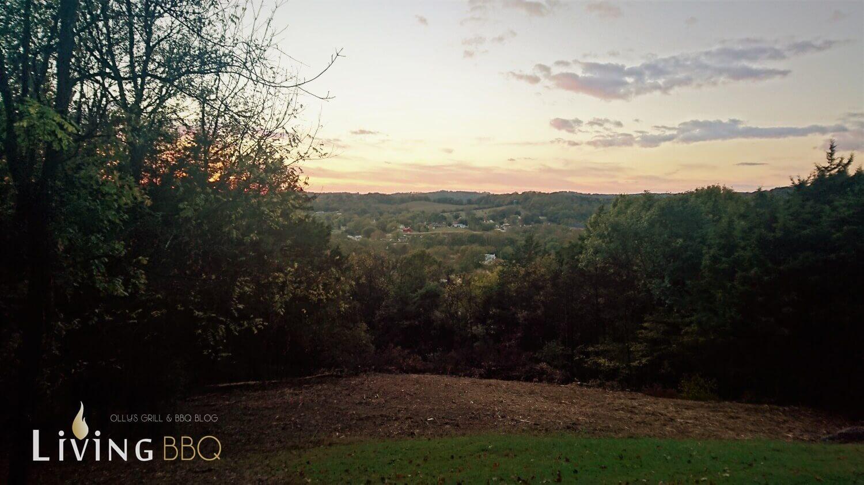Sonnenuntergang auf dem BBQ Hill