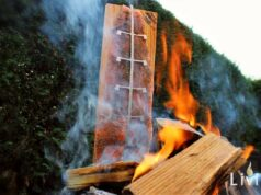 Flammlachs Feuerschale Flammlachs-Brett