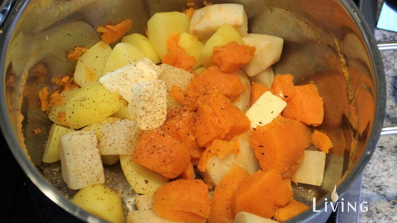 Süßkartoffelpüree süßkartoffel-püree_Katoffeln S    kartoffeln Sellerie stampfen