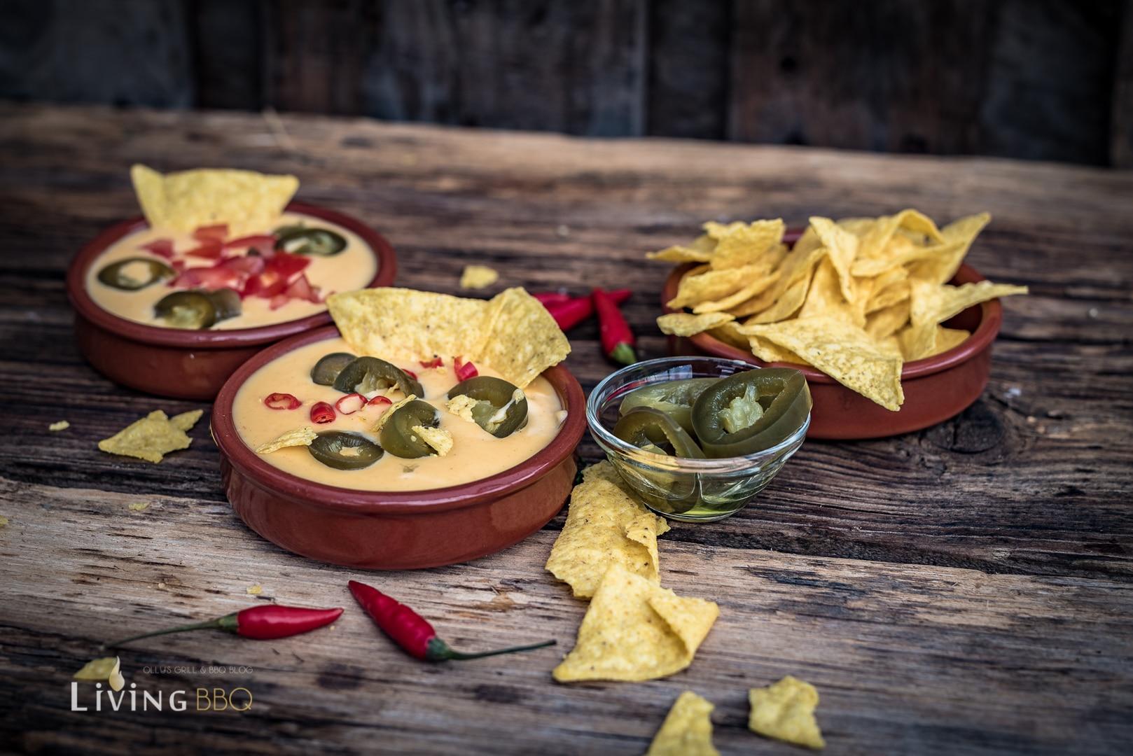 Nacho Käse Sauce mit Jalapenos