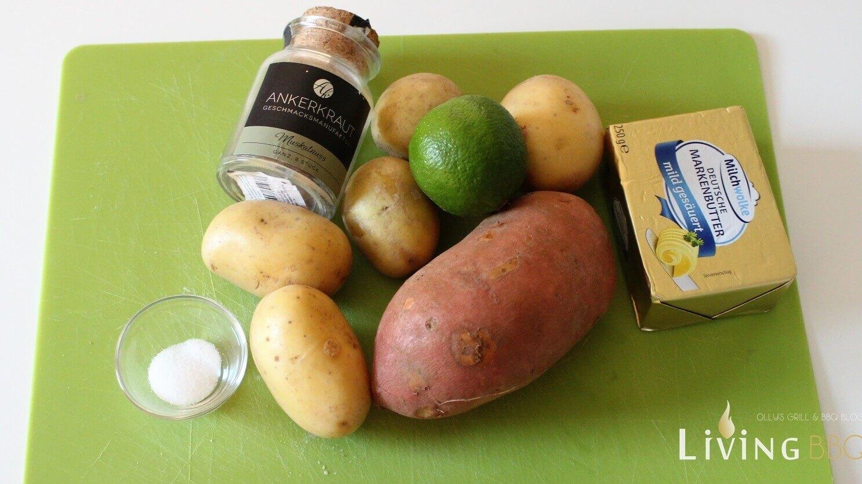 Süßkartoffel-Püree Zutaten