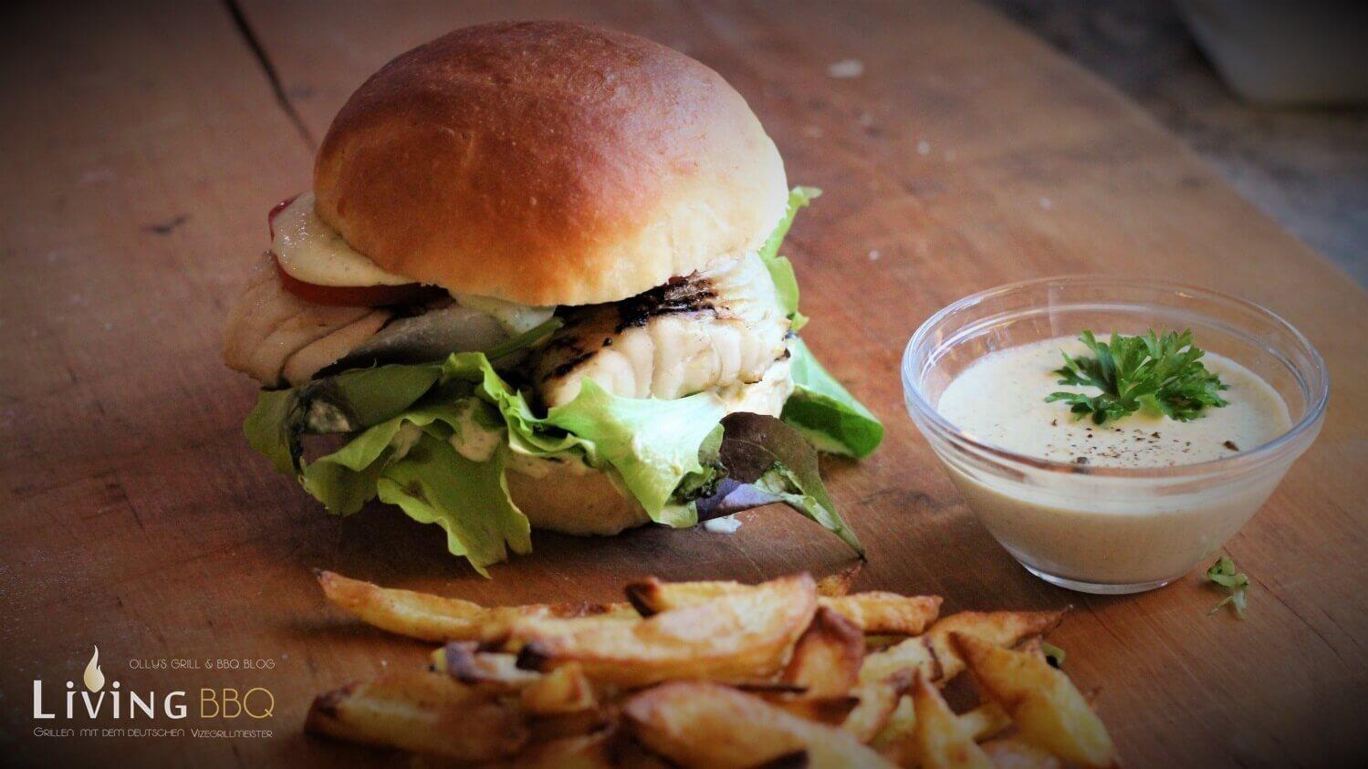 grillrezepte_Piraten Burger mit Seelachsfilet und Remoulade