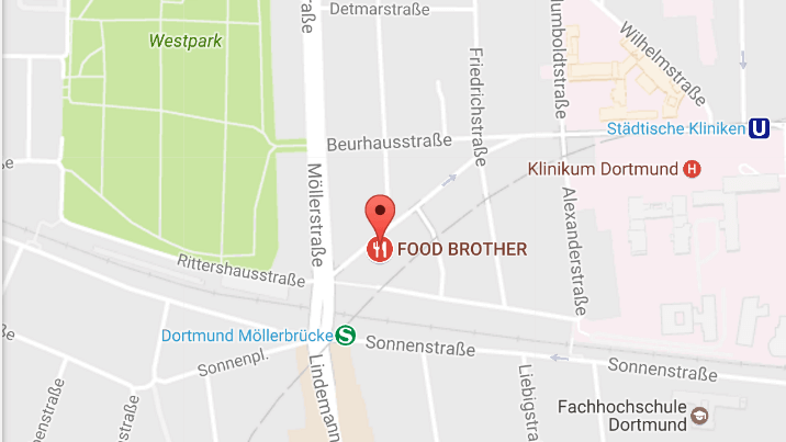 Food Brother Dortmund Location food brother_Stadtplan Dortmund Food Brother
