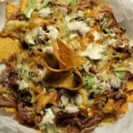 pulled pork nachos berbacken mit k se bbq fingerfood deluxe. Black Bedroom Furniture Sets. Home Design Ideas