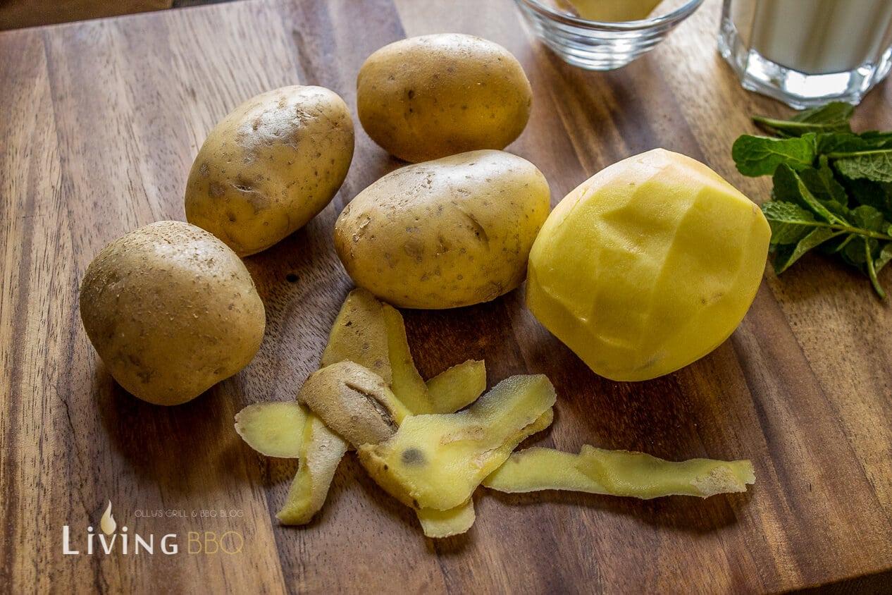 Kartoffeln für Kartoffelpüree Erbsenpüree_Erbsenp  ree 2