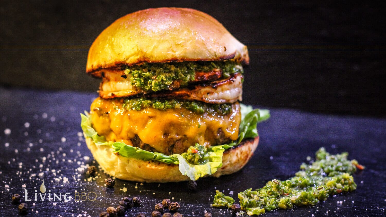 Pimientos Burger grillrezepte_Surf n Turf Burger 3 von 4