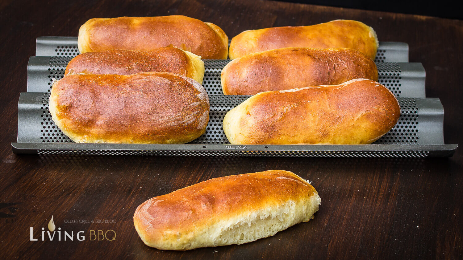 Hot Dog Buns auskühlen hot dog brötchen_Hot Dog Buns 1 von 6