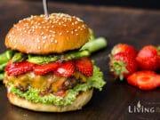 Erdbeer Spargel Burger