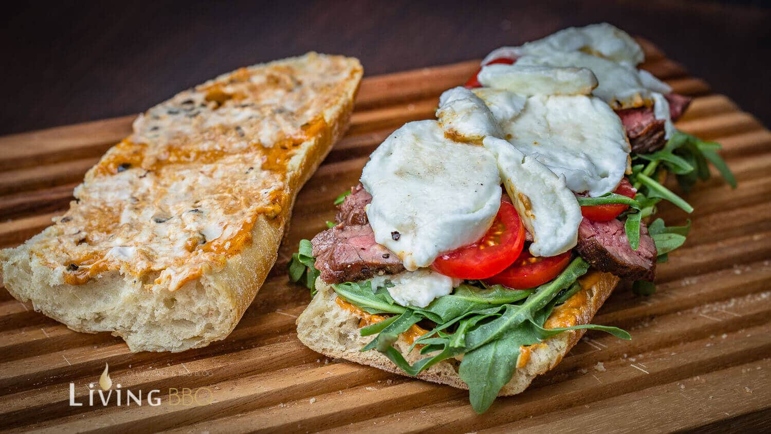 Flank Steak Büffelmozzarella