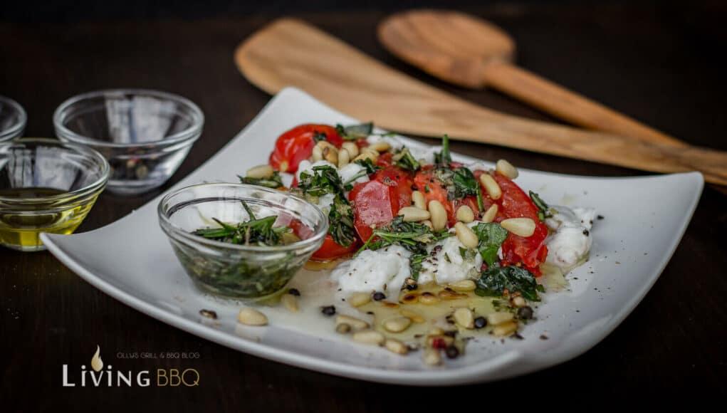 Gegrillter Caprese Salat