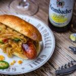 Hot Dog Bier Bratwurst geschmorte Zwiebeln hot dog_Bier Bratwurst 13 von 16 150x150