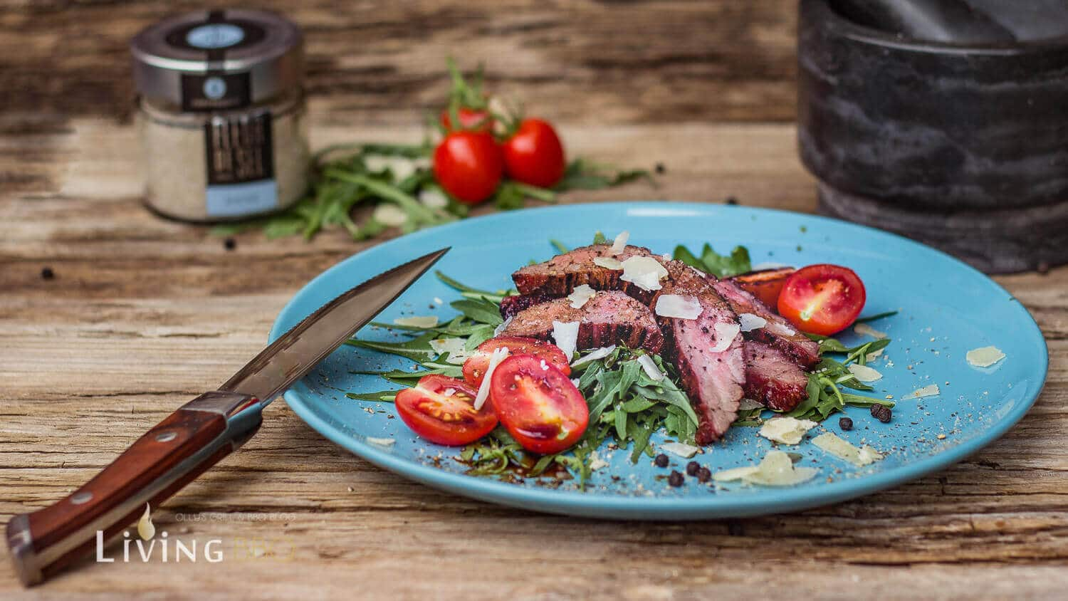 Flank Steak grillen [object object]_Flank Steak auf Ruccola 12 von 23
