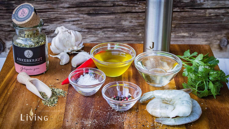 Garnelen in Olivenöl Tapas