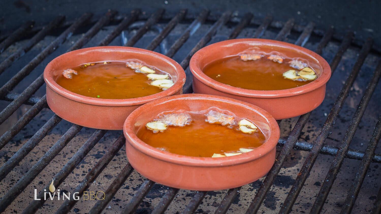 Garnelen in Olivenöl