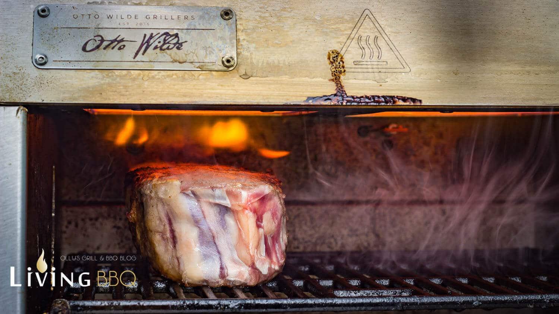 Gefrorenes Steak grillen