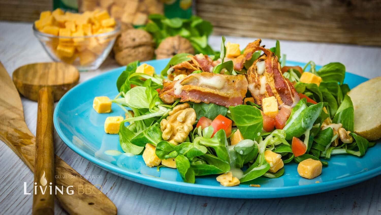 Feldsalat mit Kartoffeldressing und Cheddar Käse Würfel feldsalat mit kartoffeldressing_Feldsalat mit Kartoffeldressing und Cheddar Ka  se Wu  rfel 8 von 12