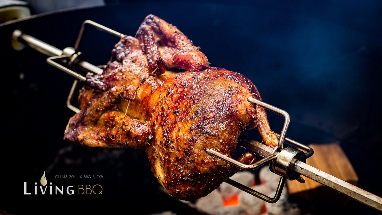 knusprige Ente von der Rotisserie auf dem Grillac knusprige ente_Ente Rotisserie 19 von 10