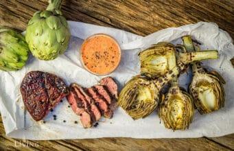 Ribeye Steak mit Artischocke vom Grill