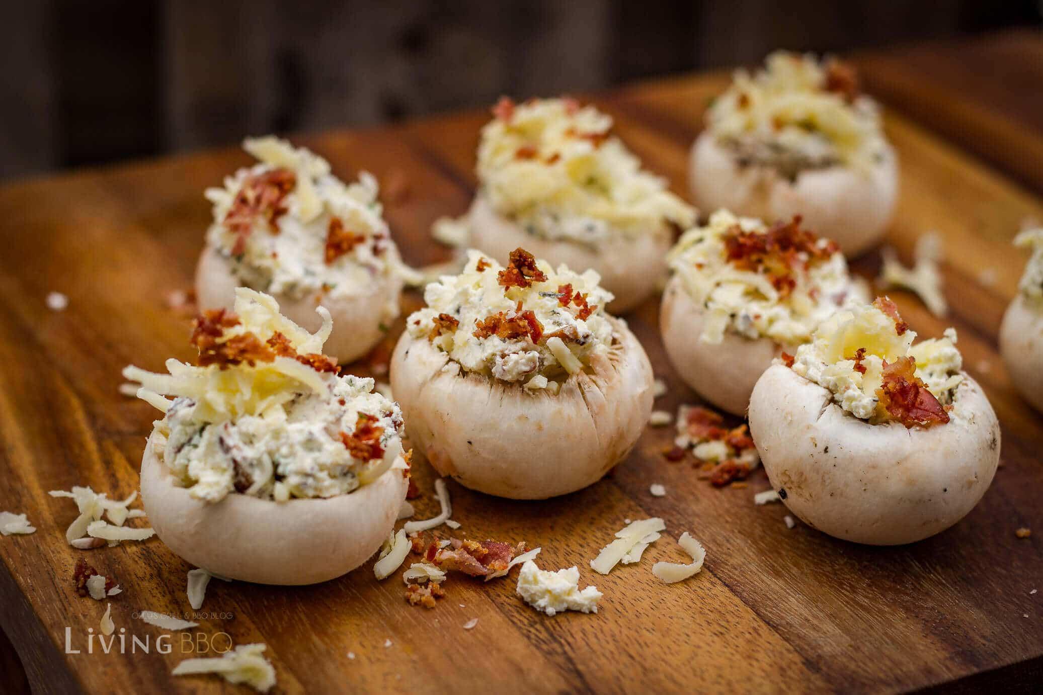 gefüllte Champignons vom Grill gefüllte champignons_Gefu  llte Champignons 5 von 9