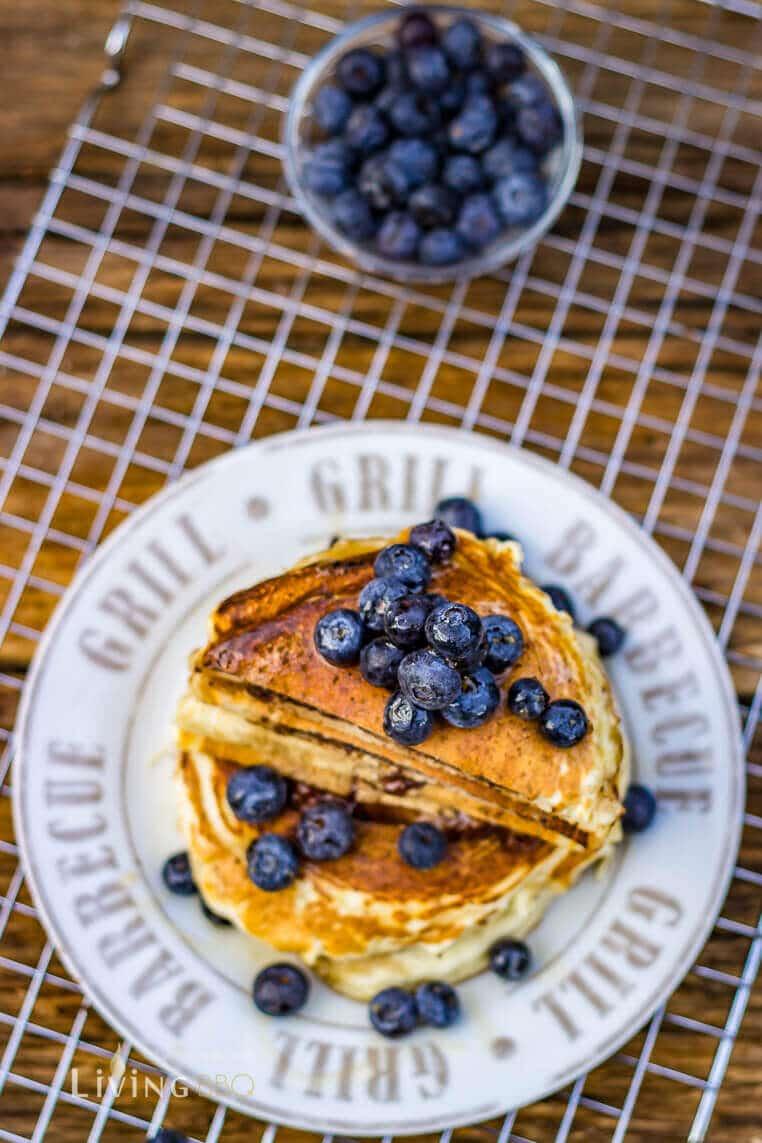gefüllte Pancake mit Nutella